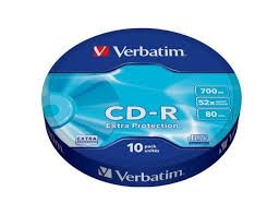 CD-R Verbatim 52x 700 MB шпиндел